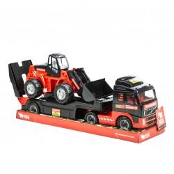 Trailer med traktor