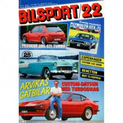 Bilsport nr 22  1987
